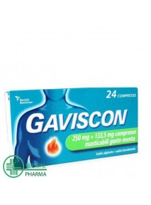 Gaviscon 250 + 133,5 mg 24...
